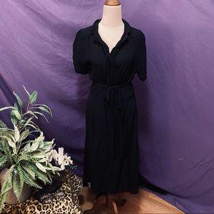 Seamstress of Bloomsbury black wrap dress